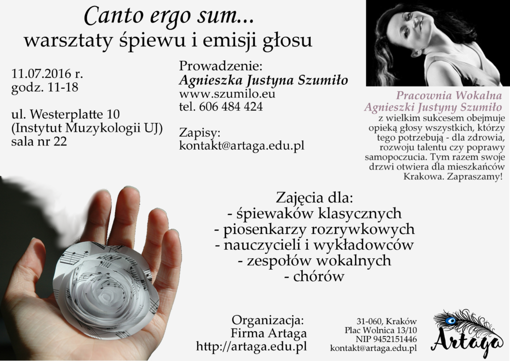 lekcje śpiewu Kraków